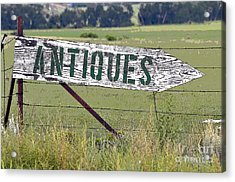 Antiques  Acrylic Print by Juls Adams