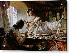 Antonio Stradivari Acrylic Print by Edgar Bundy