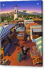 Ants At The Hollywood Farmers Market Acrylic Print by Robin Moline