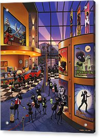 Ants At The Movie Theatre Acrylic Print by Robin Moline