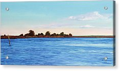 Apalachicola Bay Autumn Morning Acrylic Print by Paul Gaj