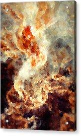Apocalyptic Abstract Acrylic Print by Georgiana Romanovna