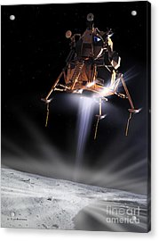 Apollo 11 Moon Landing Acrylic Print by Detlev Van Ravenswaay and Photo Researchers