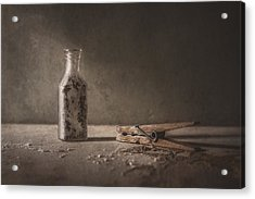 Apothecary Bottle And Clothes Pin Acrylic Print by Scott Norris
