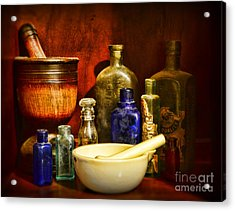 Apothecary - Tools Of The Pharmacist Acrylic Print by Paul Ward
