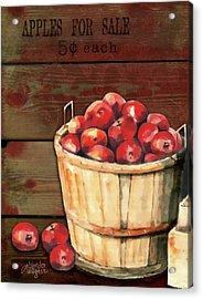 Apples For Sale Acrylic Print by Arline Wagner