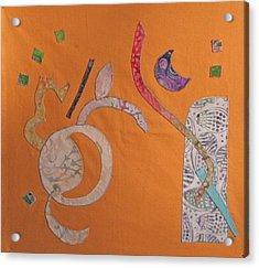 Applique 2 Acrylic Print by Eileen Hale