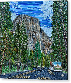 Approaching El Capitan Yosemite National Park Acrylic Print by Micah Mullen