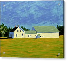 April Afternoon Route 17 Acrylic Print by Laurie Breton