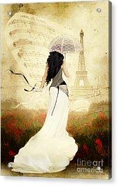 April In Paris Acrylic Print by Shanina Conway