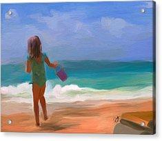 Aqua Seas Acrylic Print by Patti Siehien