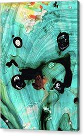 Aqua Teal Art - Volley - Sharon Cummings Acrylic Print by Sharon Cummings