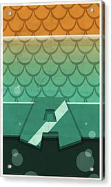 Aquaman Acrylic Print by Michael Myers