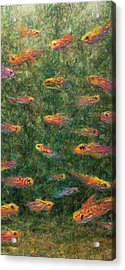 Aquarium Acrylic Print by James W Johnson