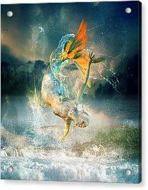 Aquatica Acrylic Print by Mary Hood