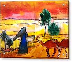 Arabian Desert Landscape  Acrylic Print by Patricia Taylor