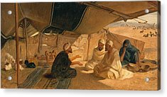 Arabs In The Desert Acrylic Print by Frederick Goodall