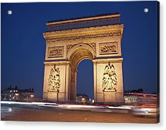 Arc De Triomphe, Paris, France Acrylic Print by David Min