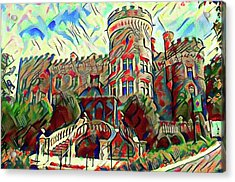 Arcadia College - Grey Towers Castle Watercolor Acrylic Print by Bill Cannon