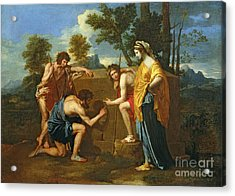 Arcadian Shepherds Acrylic Print by Nicolas Poussin