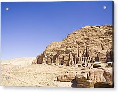Archaeological Remains Of Petra  Unesco World Heritage Site Jordan, Middle East Acrylic Print by Gallo Images