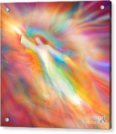 Archangel Jophiel Illuminating The Ethers Acrylic Print by Glenyss Bourne