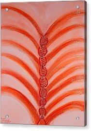 Archangel Uriel Acrylic Print by Amethyst Wyldfyre