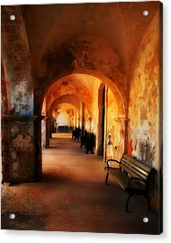 Arched Spanish Hall Acrylic Print by Perry Webster