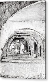 Arches Sauveterre France Acrylic Print by Vincent Alexander Booth