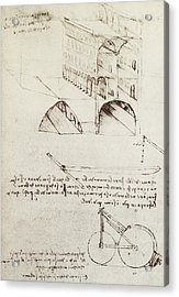 Architectural Study Acrylic Print by Leonardo Da Vinci