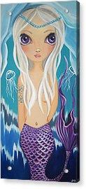 Arctic Mermaid Acrylic Print by Jaz Higgins