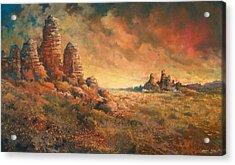 Arizona Sunset Acrylic Print by Andrew King