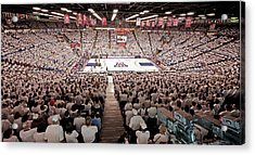 Arizona Wildcats White Out At Mckale Center Acrylic Print by Replay Photos