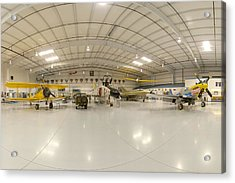 Arizona Wing Of The Commemorative Air Force Hangar March 28 2011 Acrylic Print by Brian Lockett