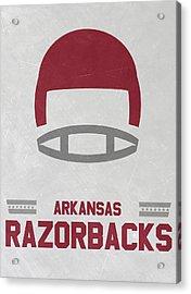 Arkansas Razorbacks Vintage Football Art Acrylic Print by Joe Hamilton