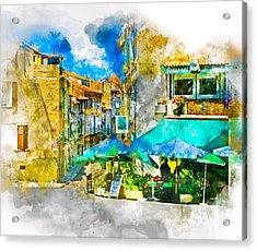 Arles Cafe 2 Acrylic Print by Douglas J Fisher