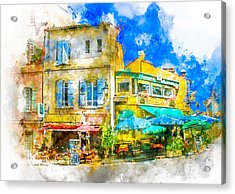 Arles Cafe Acrylic Print by Douglas J Fisher