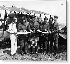 Army Air Service Pilots Acrylic Print by Underwood Archives