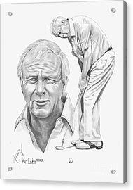 Arnold Palmer Acrylic Print by Murphy Elliott