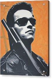 Arnold Schwarzenegger 2013 Acrylic Print by Luis Ludzska
