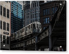 Around The Corner, Chicago Acrylic Print by Reinier Snijders