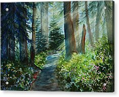 Around The Path Acrylic Print by Kerri Ligatich