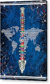 Around The World Acrylic Print by Brent Buss