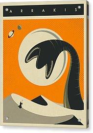 Arrakis Travel Poster Acrylic Print by Jazzberry Blue