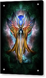 Arsencia Ethereal Glory Fractal Portrait Acrylic Print by Xzendor7