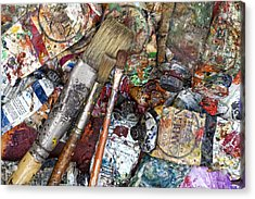 Art Is Messy 5 Acrylic Print by Carol Leigh