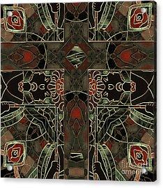 Art Nouveau Crucifix Acrylic Print by Mindy Sommers
