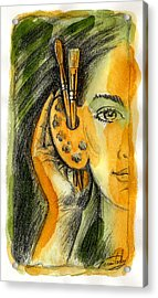 Art Of Listening Acrylic Print by Leon Zernitsky