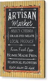 Artisan Market Sign Acrylic Print by Debbie DeWitt
