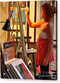 Artist At Work Acrylic Print by Rose  Hill